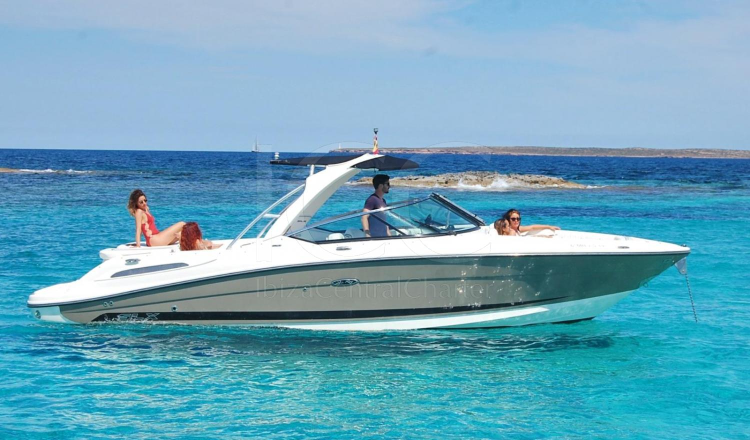 Sea Ray 270 for 9 people with skipper
