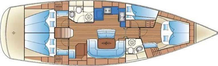 El velero Bavaria 46 es un barco grande y espacioso, perfecto para navegar por el mar Mediterráneo y descubrir los rincones mágicos que se esconden en Ibiza y Formentera.